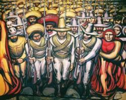 La nacionalidad azteca a través de la novela de la Revolución Mexicana y del Muralismo Mexicano.
