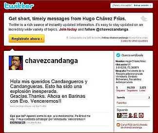 Chávez será millonario en Twitter