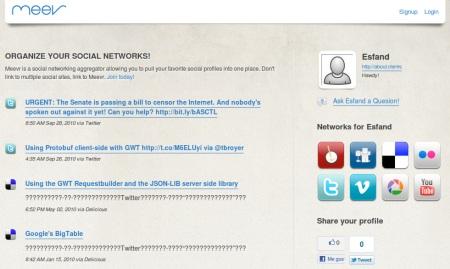 Meevr, una forma de tener casi todas las redes sociales en un solo sitio