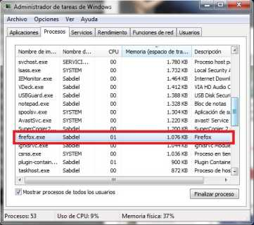 Cómo disminuir el consumo de Firefox de 100 a 1 mega