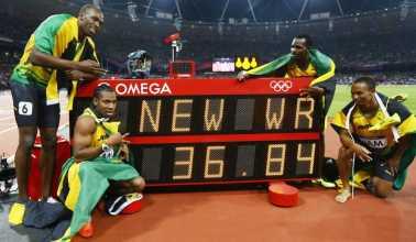 Corredores de Jamaica hacen historia de nuevo, Bolt se muda al Olimpo