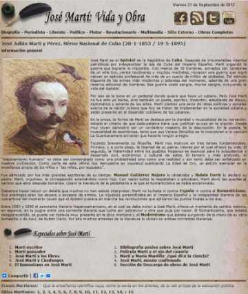 Otra visita por mi dossier multimedia sobre José Martí