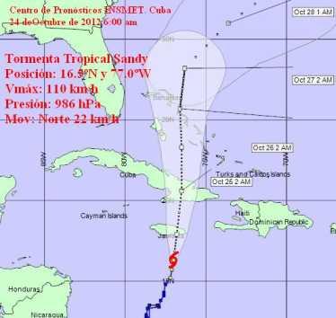 La lluvia y las tormentas en Cuba