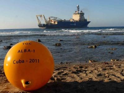 Ya funciona el cable submarino entre Cuba y Venezuela