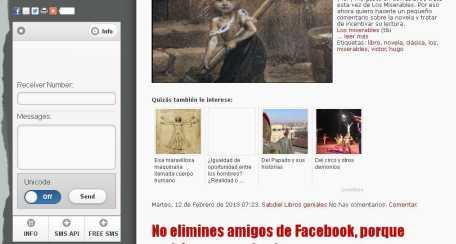 SMS gratis desde mi blog Letra Nueva