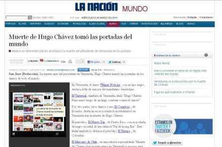 Repercute en Internet de la noticia de la muerte de Chávez